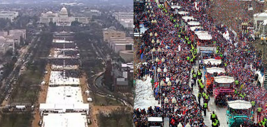 Trump has Spicer call impromptu press conference to assure nation he drew bigger crowds than Brady